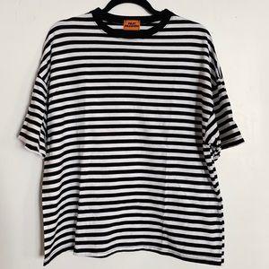 MIXXMIX Dropped Shoulder Striped T-shirt